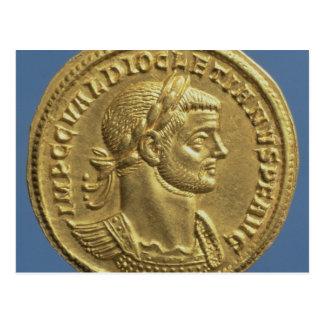 Aureus  of Diocletian  cuirassed Post Card
