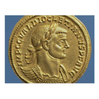 Aureus  of Diocletian  cuirassed Postcard