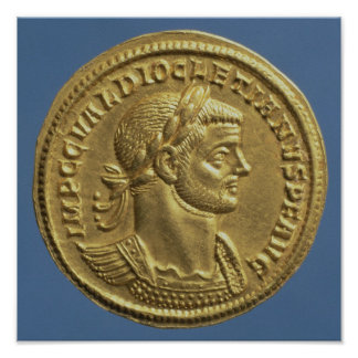 Aureus  of Diocletian  cuirassed Posters