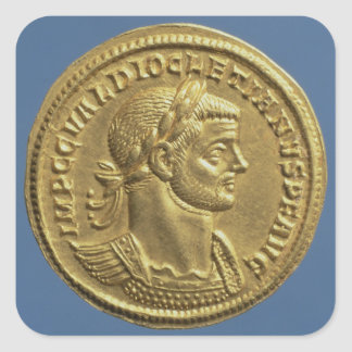 Aureus  of Diocletian  cuirassed Square Sticker