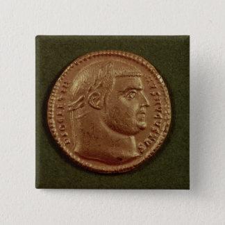 Aureus  of Diocletian  wearing a laurel wreath Button