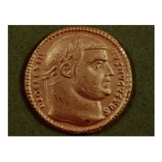 Aureus  of Diocletian  wearing a laurel wreath Postcards
