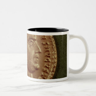 Aureus  of Diocletian  wearing a laurel wreath Two-Tone Coffee Mug