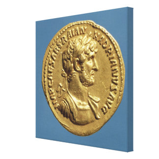 Aureus  of Hadrian Canvas Print