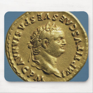 Aureus  of Nero  wearing a laurel wreath Mouse Pad