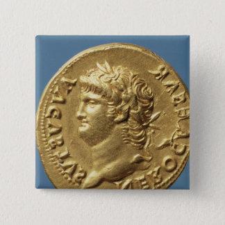 Aureus  of Nero  wearing a laurel wreath Pinback Button