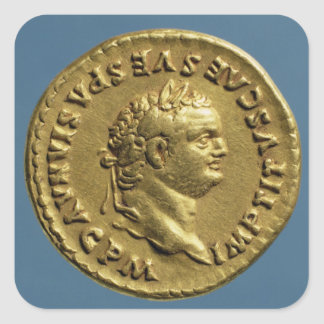 Aureus  of Nero  wearing a laurel wreath Square Sticker