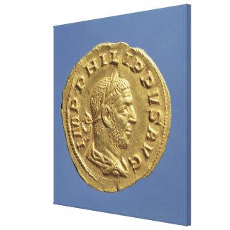 Aureus  of Philip the Arab Canvas Print