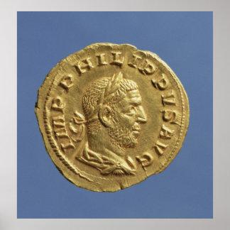 Aureus  of Philip the Arab Print