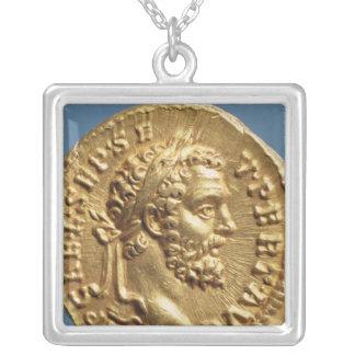 Aureus  of Septimius Severus Silver Plated Necklace