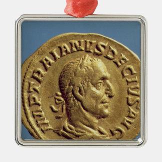 Aureus  of Trajan Decius Metal Ornament