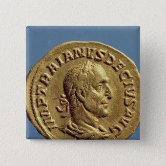 Aureus  of Trajan Decius Pinback Button