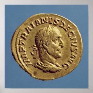 Aureus  of Trajan Decius Poster