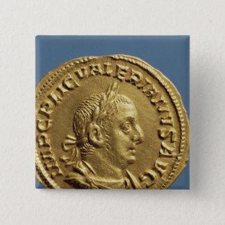 Aureus  of Valerian I Button