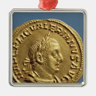 Aureus  of Valerian I Metal Ornament