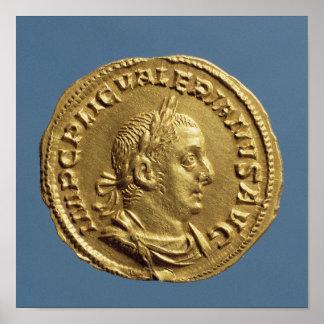 Aureus  of Valerian I Posters