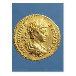 Aureus  with head of Carcalla  grapes Postcard
