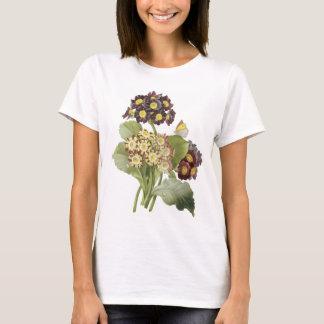 auricula(Primula auricula) by Redouté T-Shirt