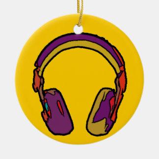 auricular de DJ del color Adorno Navideño Redondo De Cerámica