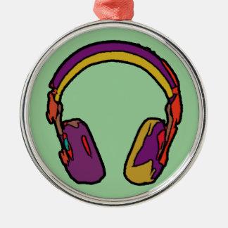 auricular de DJ del color Adorno Navideño Redondo De Metal