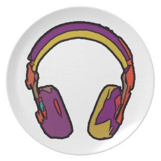 auricular de DJ del color Platos De Comidas