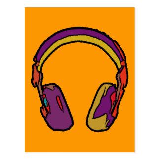 auricular de DJ del color Tarjeta Postal
