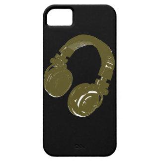 auricular de los discs jockeyes iPhone 5 fundas