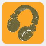 auricular de los discs jockeyes colcomanias cuadradas