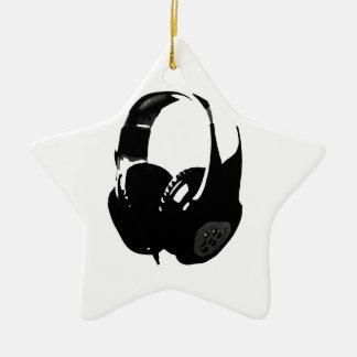 Auricular del arte pop adorno navideño de cerámica en forma de estrella