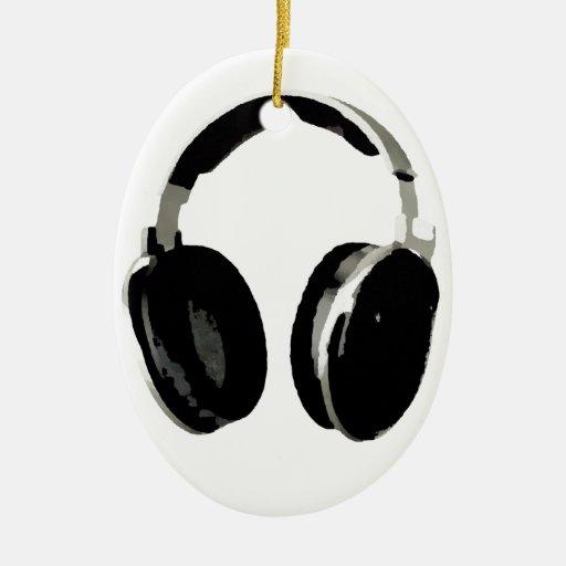 Auricular del arte pop adorno ovalado de cerámica