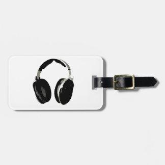 Auricular del arte pop etiquetas de maletas