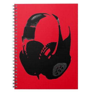 Auricular del arte pop spiral notebooks