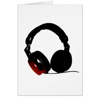 Auricular del arte pop tarjeta de felicitación