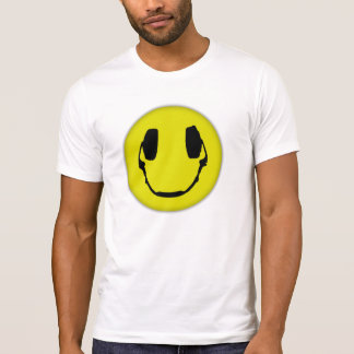 Auricular feliz camiseta
