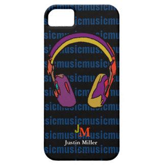 auricular fresco personalizado de DJ iPhone 5 Fundas