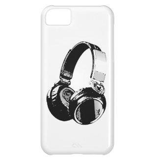 Auricular negro y blanco del arte pop