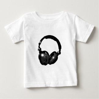 Auricular negro y blanco del arte pop playera de bebé