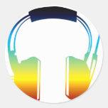 auricular pegatina redonda