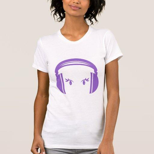Auricular y camiseta de los ojos polera