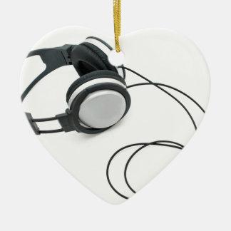 Auriculares Adorno Navideño De Cerámica En Forma De Corazón