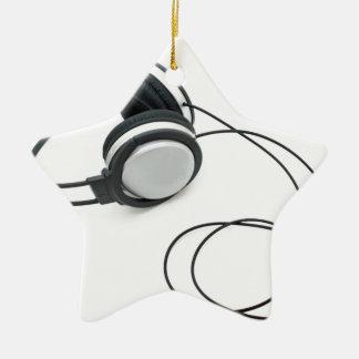 Auriculares Adorno Navideño De Cerámica En Forma De Estrella