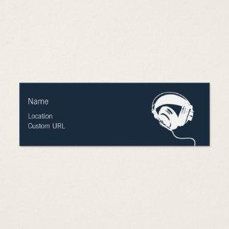 Auriculares - azul tarjetas de visita mini