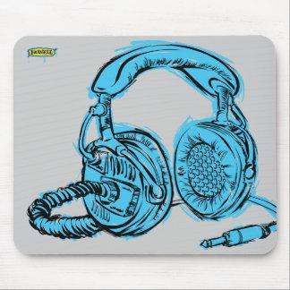 Auriculares - azules claros tapete de ratón