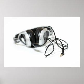 Auriculares, cable y Jack de la música Póster