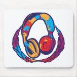 Auriculares coloridos alfombrillas de ratones