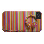 Auriculares coloridos iPhone 4 Case-Mate protector