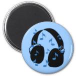 Auriculares con las notas musicales para el bebé e imán de frigorifico