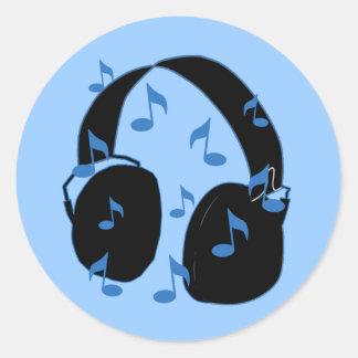 Auriculares con las notas musicales para el bebé e etiquetas