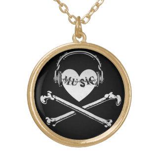 Auriculares cráneo y bandera pirata de la música d colgantes personalizados