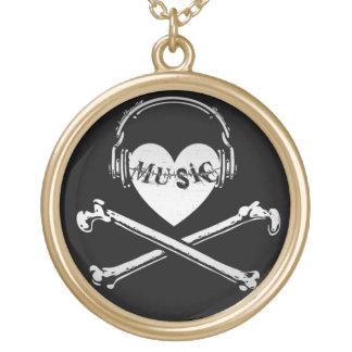 Auriculares cráneo y bandera pirata de la música d pendientes personalizados